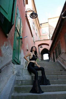 I am Georgiana Almaaz Couture Designer Roman Constanta Be Bold | And I found just the right outfit to do that, a breathtaking black set